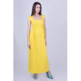 Сарафан в пол для беременных желтый