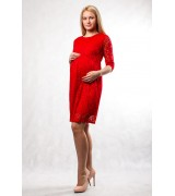 Платье красное  для беременных