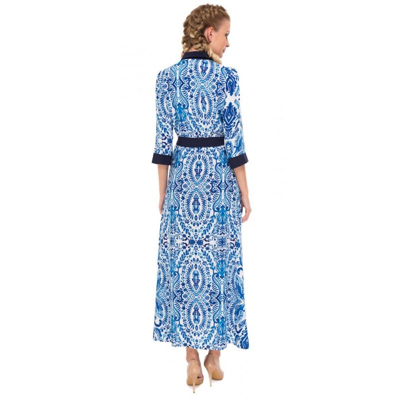 Платье Белое С Синими Цветами Доставка