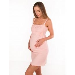 Сорочка для беременных и кормящих, персик