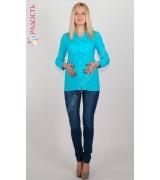Джинсы синие для беременных с высоким бандажем
