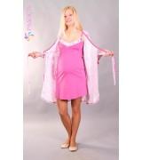 Комплект для беременных и кормящих - сорочка и халат