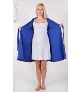 Комплект для беременных и кормящих : сорочка и халат короткий рукав