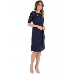 """Платье """"Инес"""" для беременных и кормящих серый меланж"""