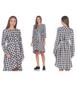 Платье - рубашка для беременных и кормящих клетка