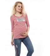 """Лонгслив """"Марти"""" для беременных и кормящих цвет: красный"""